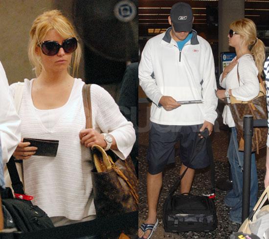 Jessica Simpson and Tony Romo Leave Hawaii