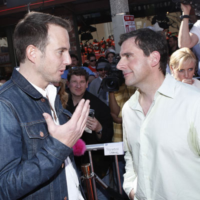 Will Arnett and Steve Carell at the Premiere of Horton Hears a Who