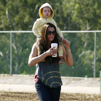 Brooke Shields and Daughter Grier At a LA Park