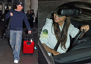 Nick and Vanessa Just Rolling (Their Luggage) Along