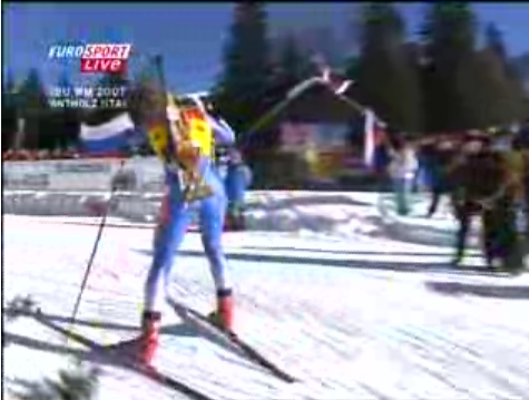 Biathlons Combine Cross-Country Skiing and Riflery