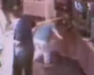 Drink Machine Explodes, Lady Slips and Falls