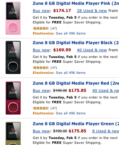 How Low Can the 8GB Zune Go?