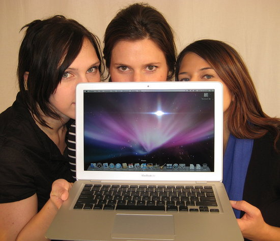 Three Girls Unboxing The MacBook Air