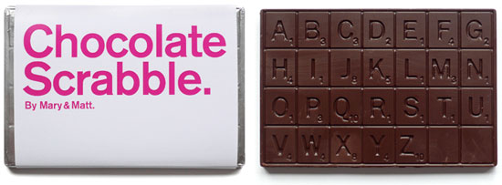 Mary & Matt Create a Dark Chocolate Scrabble Bar