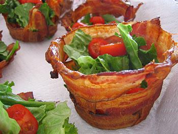 Yummy Link: Bacon Cups