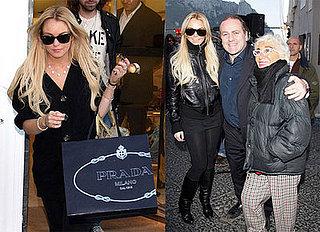Lindsay Lohan's Career Honored in Capri