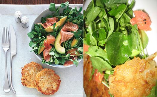 Theirs vs. Mine: Potato Latkes With Watercress Salad