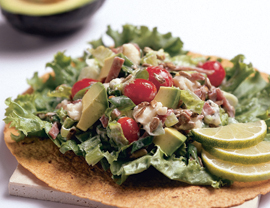 Fast & Easy Dinner: Avocado and Feta Salad Wraps