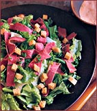 Monday's Leftover's: Corned Beef Salad with Rye Croutons