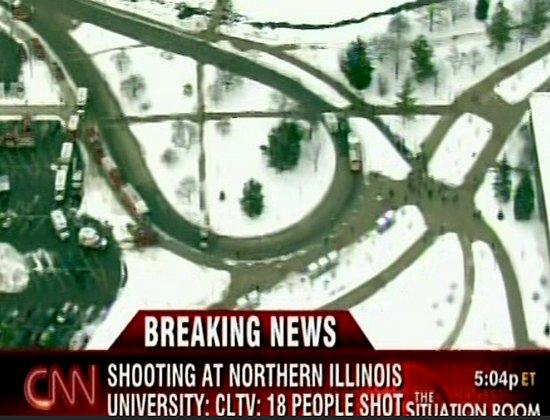 Headline: 17 Shot, 5 Dead at Northern Illinois University