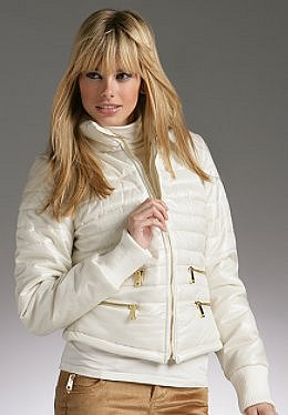 Justsweet by JLo: Shiny Liquid Fitted Puffer W/ Zips