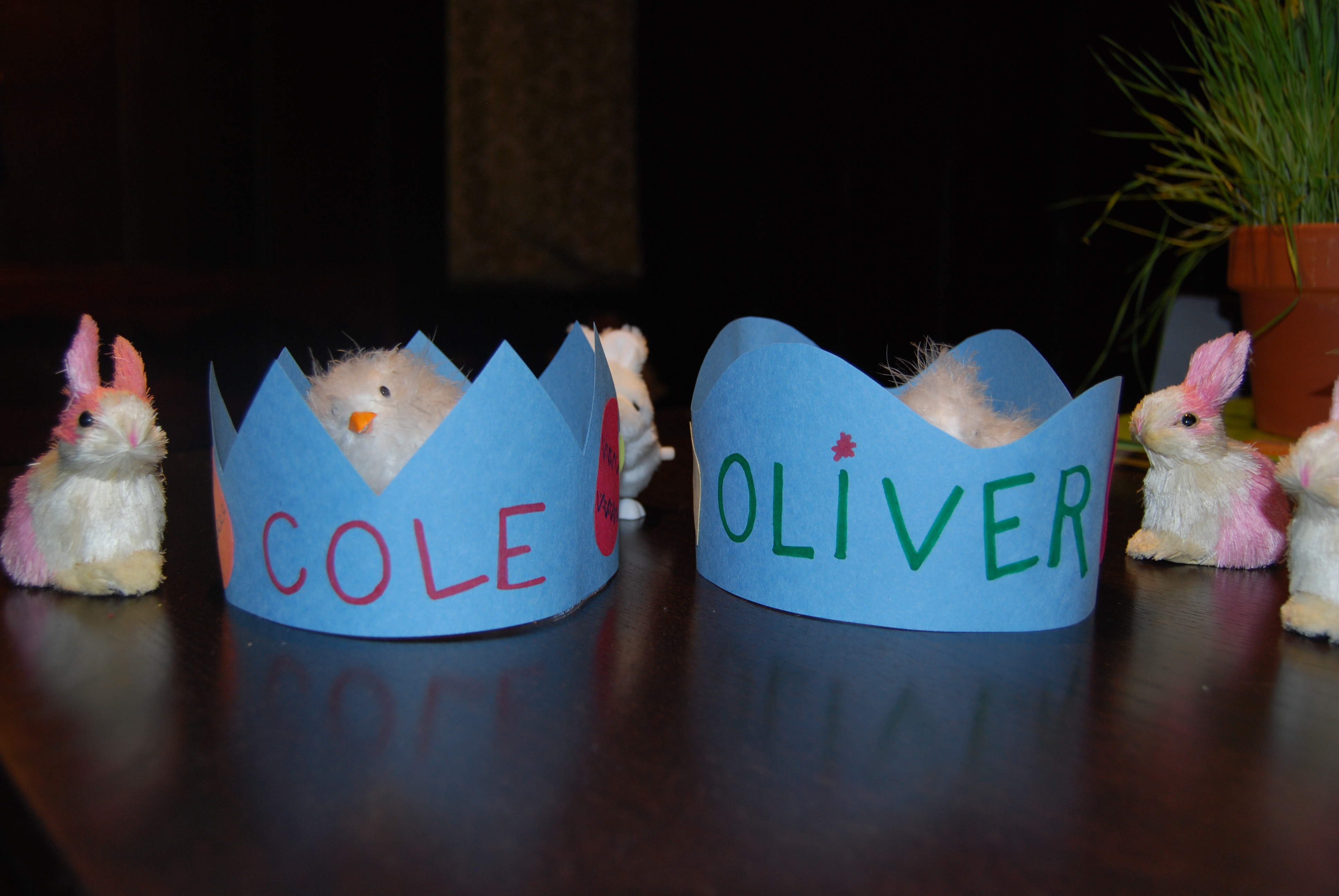 Finished product of two crowns!
