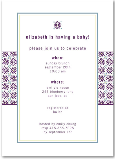 tiny prints baby shower invitations popsugar moms