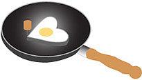 fredflare.com   heart-shaped egg mold