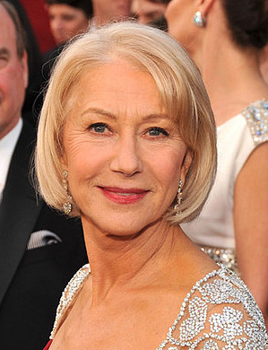 Helen Mirren at the Oscars: hair and makeup