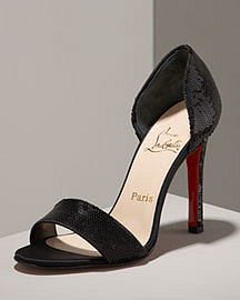 Christian Louboutin Sequined Sandal- Shoes- Neiman Marcus