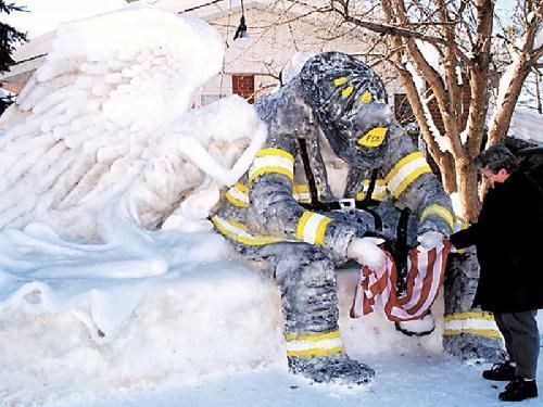 9/11  Snow / Ice sculptures
