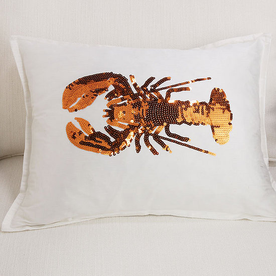 Where Would You Decorate With This Sequin Lobster Pillow?