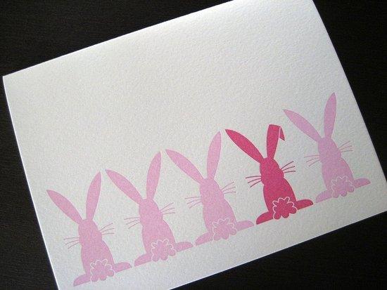 The Card Shop: Hippity Hop Letterpress Bunny Card