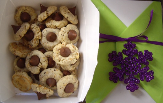 12 Days of Edible Gifts: Hazelnut Kiss Cookies