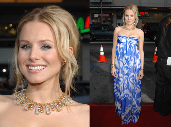 "Celebrity Style: Kristen Bell at the LA Premiere of ""Forgetting Sarah Marshall"""