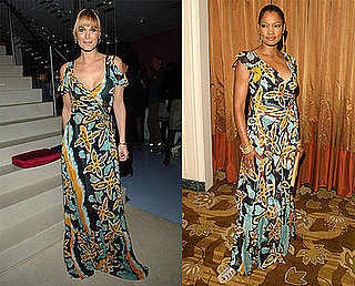 Garcelle Beauvais Nilon and Molly Sims in Diane von Furstenberg Print Maxi Dress