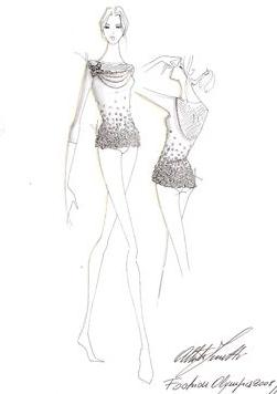 A sketch of Alberta Ferretti's take on a gymnastics
