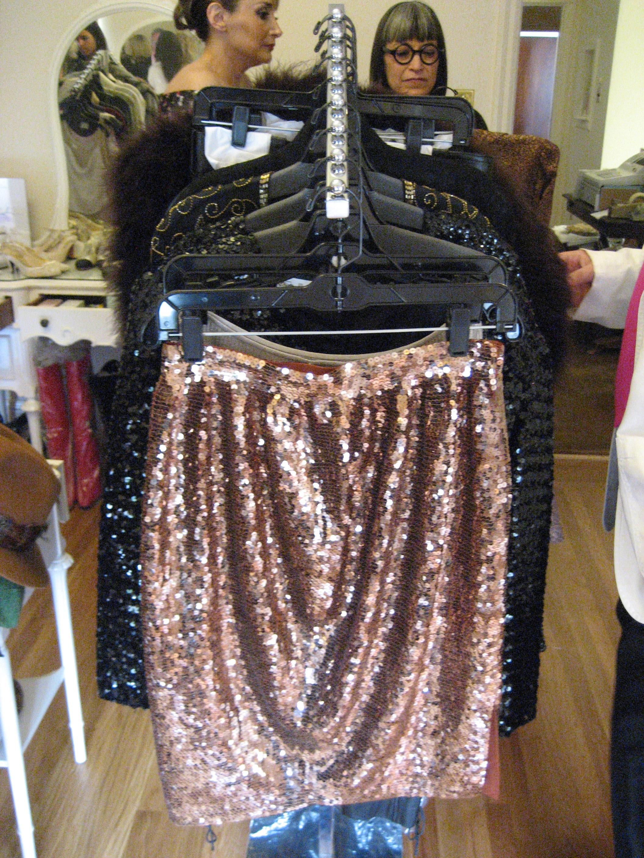 A divine sequin skirt.