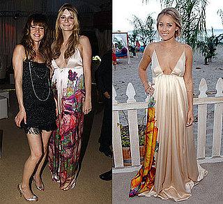 Lauren Conrad and Mischa Barton in Roberto Cavalli maxi dress