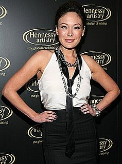 Lindsay Price in an Ivory Top With Black Tie at Third Annual Hennessy Artistry Concert Series Finale