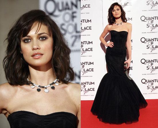 James Bond Actress Olga Kurylenko in Dolce & Gabbana at the Quantum Of Solace Rome Premiere
