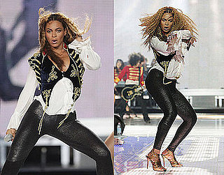 Beyonce Knowles Performs in Alexander McQueen Velvet Waistcoat at 2008 World Music Awards