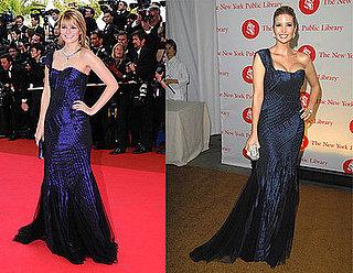 Mischa Barton and Ivanka Trump Both Wear Alberta Ferretti's Blue One-Shoulder Gown