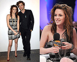 Kristen Stewart Wears a Plaid French Connection Dress Promoting Twilight