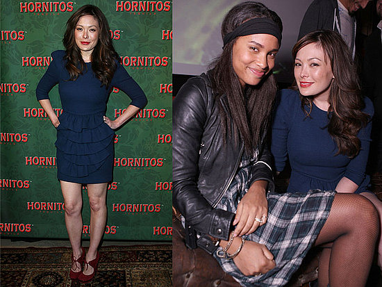 Lindsay Price Attends Hornitos Midnight in the Garden of Agave in Blue Ruffle Phillip Lim Dress