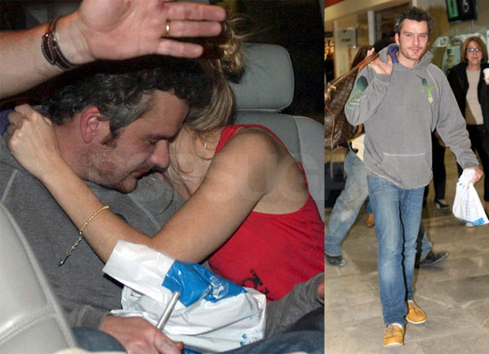 Photos of Sienna Miller and Balthazar Getty Arriving in Mexico