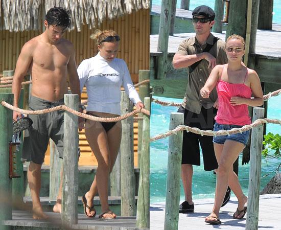 Photos of Hayden Panettiere and Milo Ventimiglia Vacationing in Bora Bora