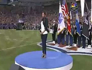 Video of Jennifer Hudson's performance at the Super Bowl