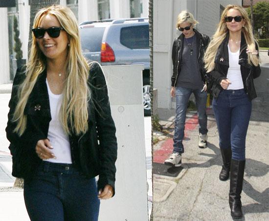 Lindsay Lohan shopping with Samantha Ronson