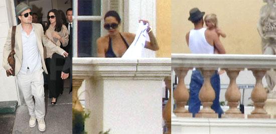 Photos of Angelina Jolie In Bikini Sunbathing In France