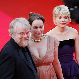 "Michelle Williams, Samantha Morton and Phillip Seymour Hoffman at the ""Synecdoche, New York"" Premiere"