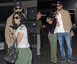 Ashton and Demi Go Cuddly Casual