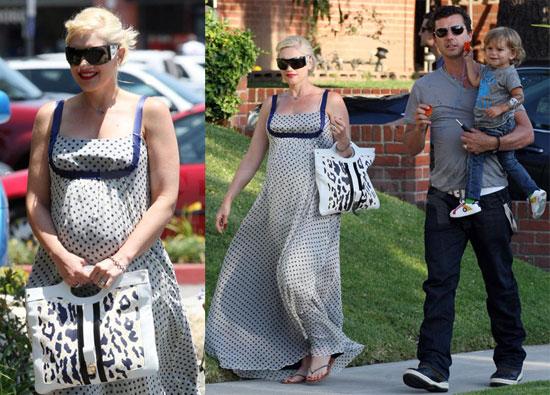 Gwen Stefani, Gavin Rossdale and Kingston Rossdale Wait for the New Baby