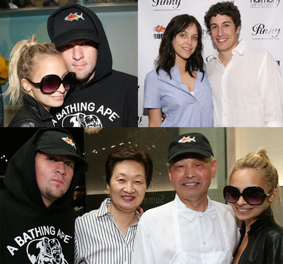 Nicole Richie and Joel Madden Attend SugarFish Grand Opening Party