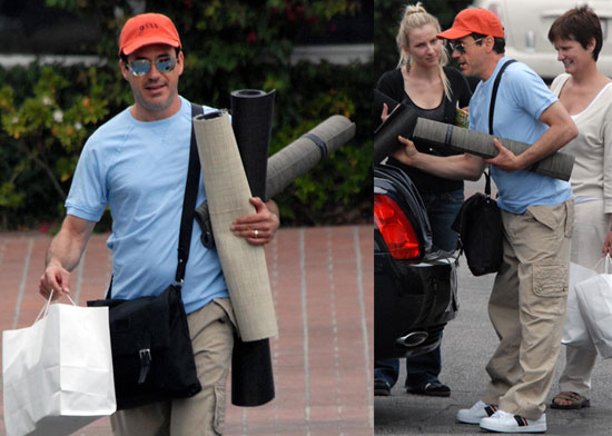Robert Downey Jr. Shops For Rugs in Santa Monica
