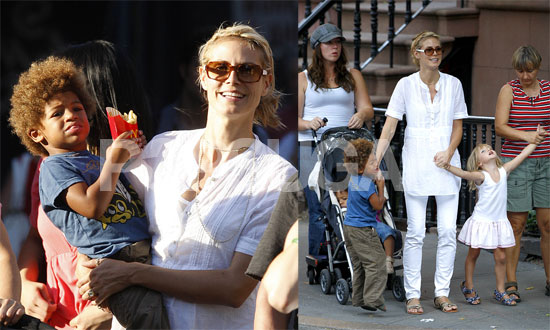 Heidi Klum Takes Leni, Henry and Johan to McDonald's