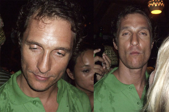 Matthew McConaughey Drunk in Nicaragua