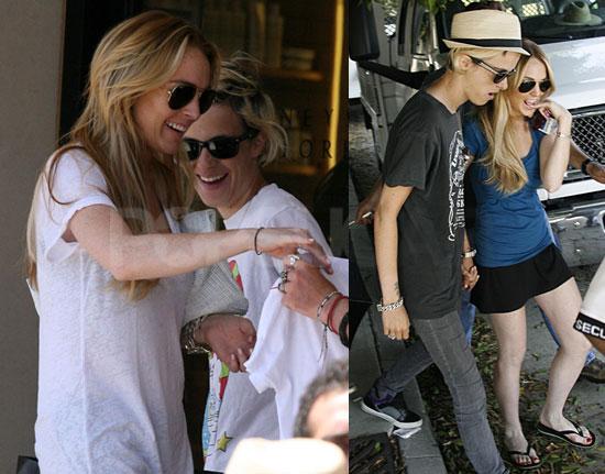 Photos of Lindsay Lohan and Samantha Ronson in LA 2008-06-30 07:45:00