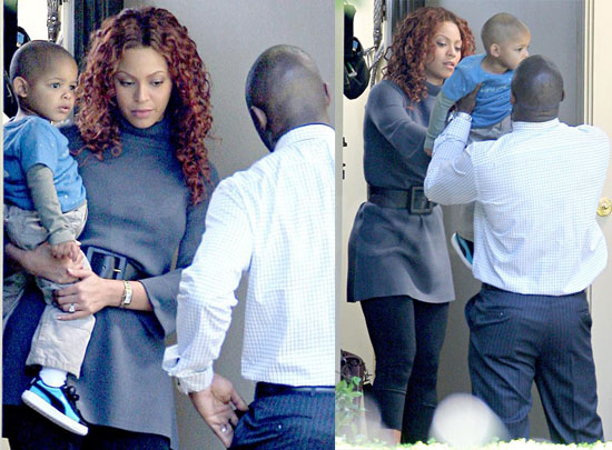 Photos of Beyonce Knowles on the Set of Obsessed in LA